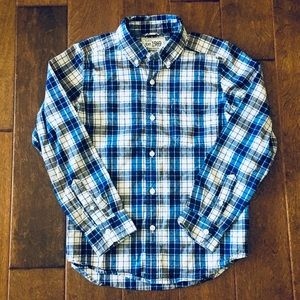 Boys Long Sleeve Plaid Button-Down Shirt